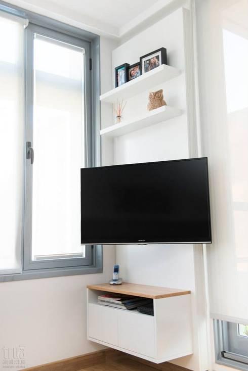 Departamento CONCEPCION ARENAL: Dormitorios de estilo  por Trua arqruitectura