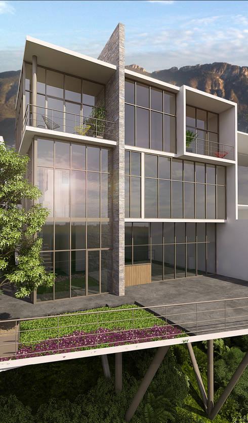 Casa Barcelona: Casas de estilo moderno por Lozano Arquitectos
