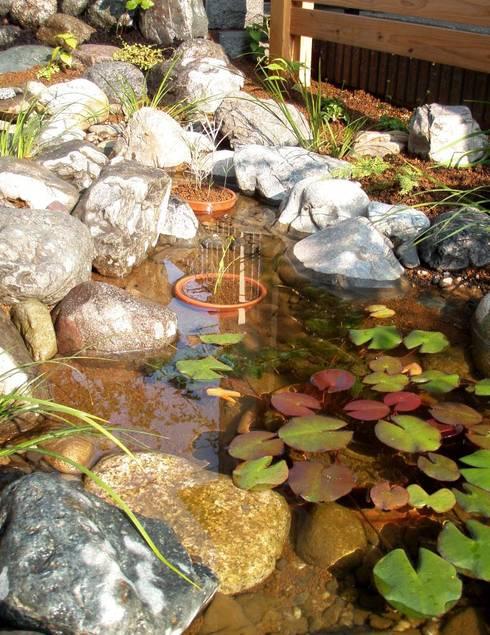 小さな池のある庭   Kamakura: jardinier Kirikuiが手掛けた庭です。