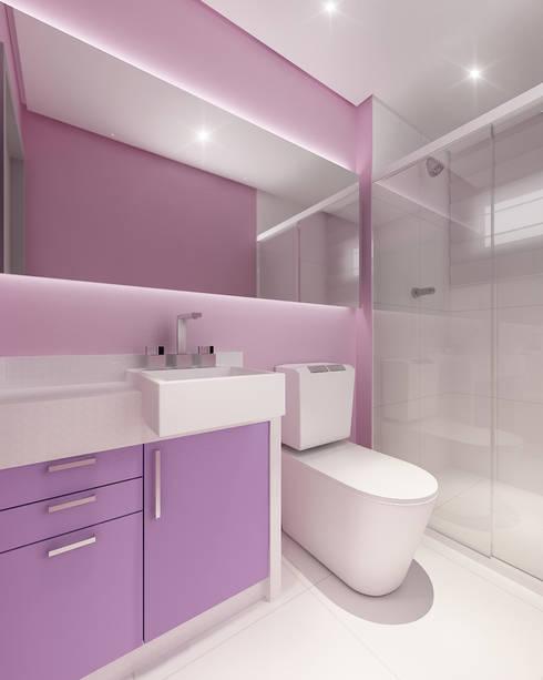 modern Bathroom by Modulo2 Arquitetos Associados.