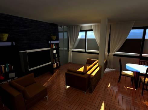 Casa Sanchez: Salas / recibidores de estilo moderno por Arquitecto Eduardo Carrasquero