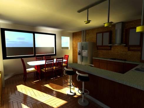 Casa Sanchez: Cocinas de estilo moderno por Arquitecto Eduardo Carrasquero