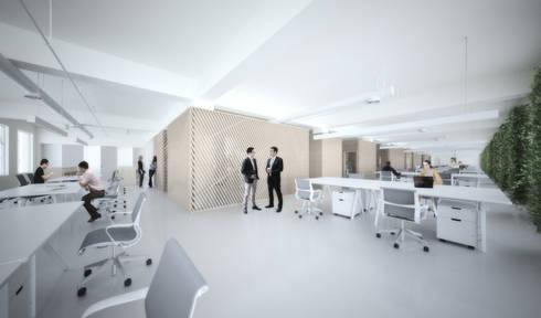 Directions - AIM Coworking Space Design Competition, Beijing:   por João Araújo Sousa & Joana Correia Silva Arquitectura