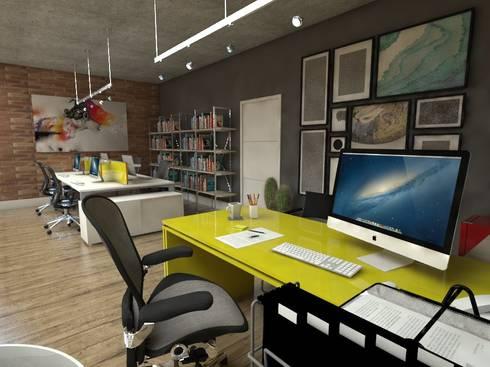Escritório de Design: Espaços comerciais  por Studio M Arquitetura