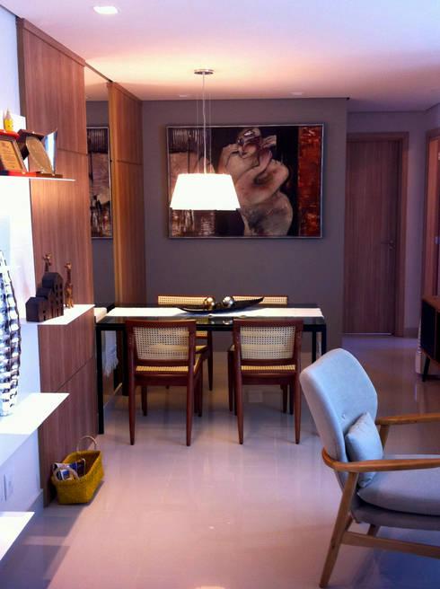 Sala de Jantar: Salas de jantar ecléticas por Jaqueline Vale Arquitetura