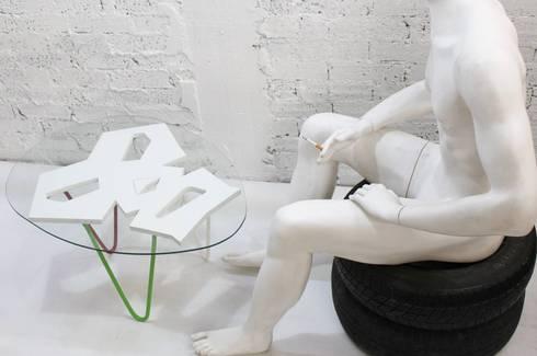 Mexican table: Salas de estilo moderno por MSTYZO Diseño y fabricación de mobiliario
