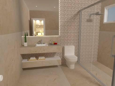 Sala de Banho:   por Carvalho Arquitetura e Interiores