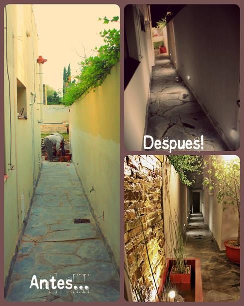 Couloir et hall d'entrée de style  par LAS MARIAS casa & jardin