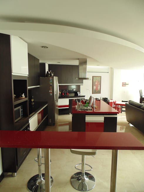 Cocinas de estilo moderno por Le.tengo Arquitectos