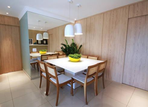 Vila Mascote: Salas de jantar modernas por MeyerCortez arquitetura & design