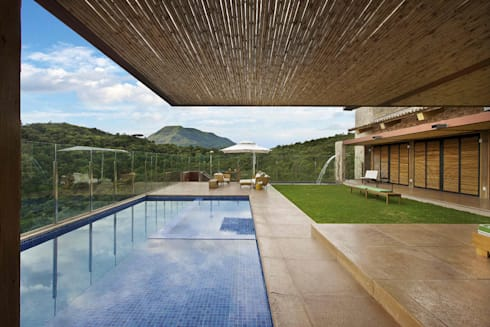 Casa da Montanha 4: Casas rústicas por David Guerra Arquitetura e Interiores