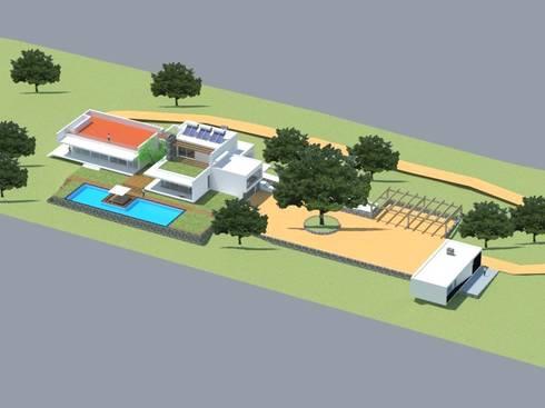 Quinta  das Azinheiras –  Turismo Rural: Casas minimalistas por Carlos Fazenda, arquitectos