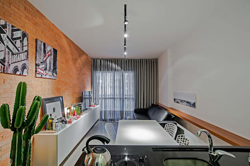 Apartamento LB: Salas de jantar modernas por Studio Boscardin.Corsi Arquitetura
