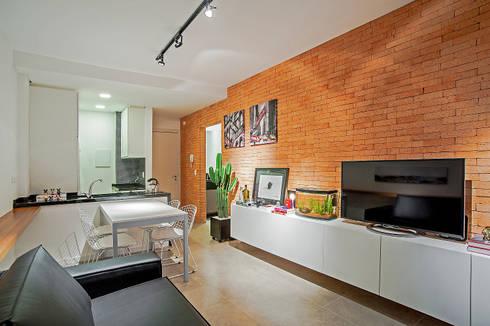 Apartamento LB: Salas de estar modernas por Studio Boscardin.Corsi Arquitetura