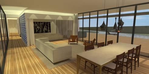 Sala da Estar - Casa - Park Way - Brasília/DF: Salas de estar modernas por Arquitetura do Brasil