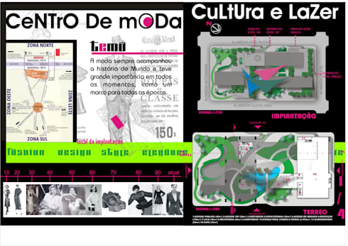 Planta baixa - andar Térreo - Paisagismo - Centro de Moda, Cultura e Lazer - São Paulo - Brasil:   por Dunder Koch Arquitetura