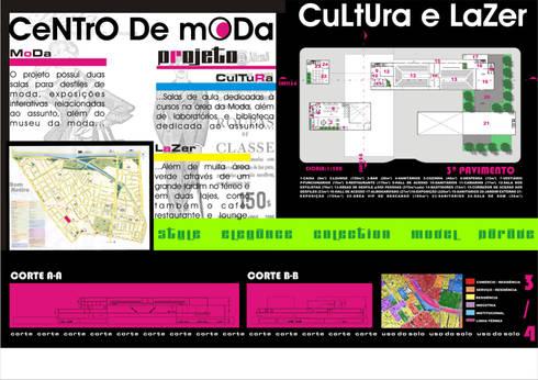Planta baixa - 3º pavimento / cortes - Centro de Moda, Cultura e Lazer :   por Dunder Koch Arquitetura