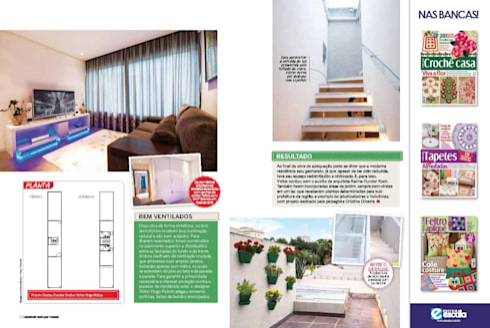 Casa Jardins - São Paulo - Brasil: Salas multimídia modernas por Dunder Koch Arquitetura