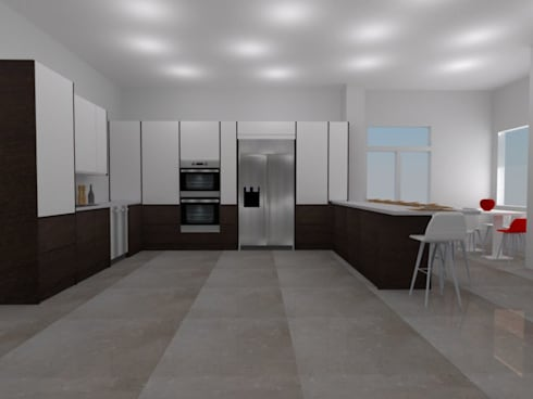 Diseño ArceCocinas: Cocinas de estilo moderno por ARCE MOBILIARIO