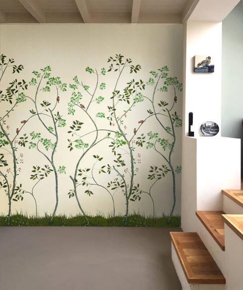 Peinture XXIX Dutchoiserie - hand-painted wallpaper:  Eetkamer door Snijder&CO
