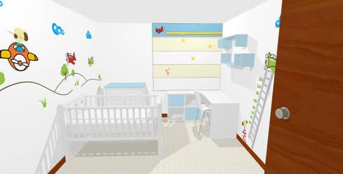 Propuesta 3D: Dormitorios de estilo  por Fiordana Diseño Interior