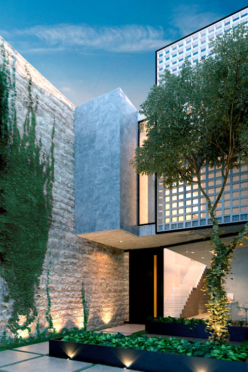 NP CC: Casas de estilo minimalista por Esquiliano Arqs