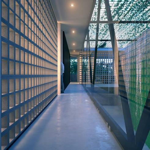 NP CC: Pasillos y recibidores de estilo  por Esquiliano Arqs