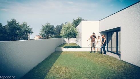 Casa no Pinhal do General: Casas modernas por Tapada arquitectos