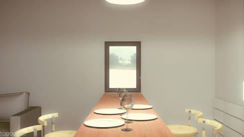 Casa no Pinhal do General: Cozinhas modernas por Tapada arquitectos