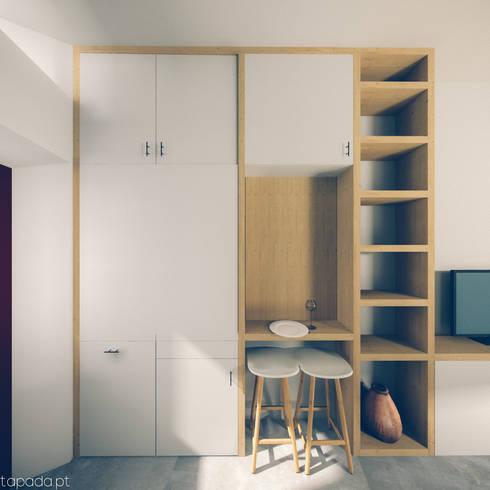 Recuperação em Évora: Cozinhas modernas por Tapada arquitectos