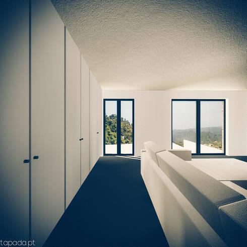 Casa em Barrancos: Salas de estar modernas por Tapada arquitectos