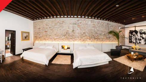 Mesón de Santa Rosa : Hoteles de estilo  por Tectónico
