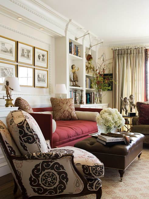 Casa em Nob Hill, Sao Francisco: Salas de estar clássicas por Antonio Martins Interior Design Inc