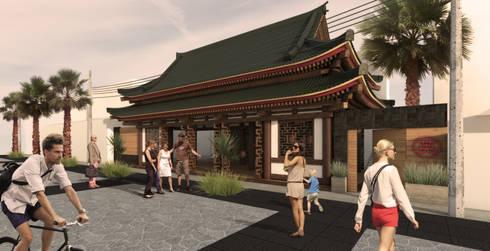 Pagoda Si Sushi: Restaurantes de estilo  por Zkla
