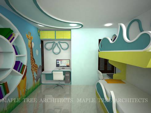 Mr.Rajesh Residence: modern Nursery/kid's room by MAPLE TREE