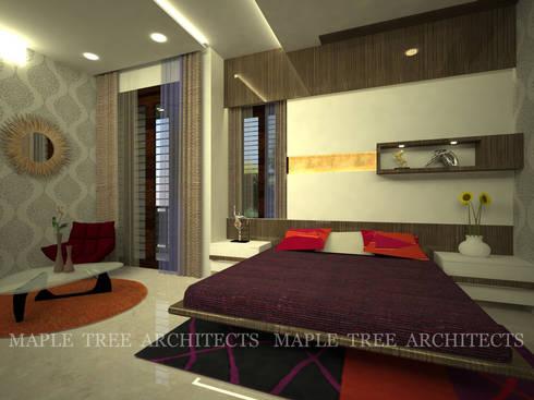 Mr.Rajesh Residence: modern Bedroom by MAPLE TREE