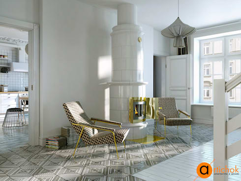 Livings de estilo escandinavo por Art-i-Chok