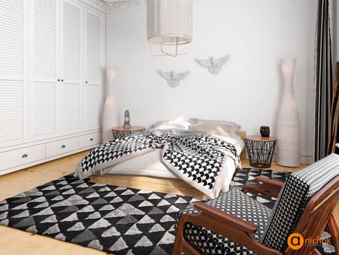 Dormitorios de estilo escandinavo por Art-i-Chok