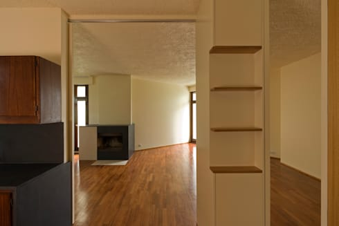 Remodelação de Apartamento na Pasteleira: Cozinhas escandinavas por ABPROJECTOS