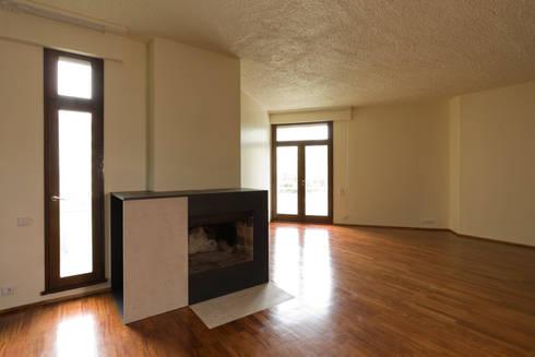 Remodelação de Apartamento na Pasteleira: Salas de estar escandinavas por ABPROJECTOS
