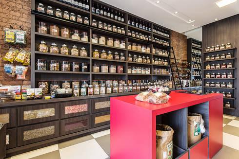 Projeto MF Interiores para Armazém Bonatto: Espaços gastronômicos  por MF Interiores