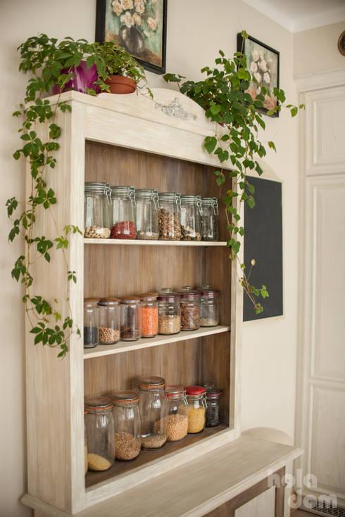 Dom jednorodzinny pod lasem. Kuchnia: styl , w kategorii Kuchnia zaprojektowany przez HOLADOM Ewa Korolczuk Studio Architektury i Wnętrz