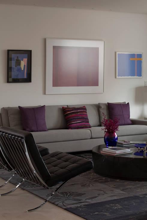 Apartamento Vila Nova Conceição 2: Salas de estar modernas por Antônio Ferreira Junior e Mário Celso Bernardes