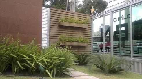 Jardim frontal: Jardins tropicais por Marcos Assmar Arquitetura   Paisagismo