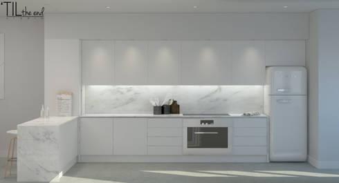 Residential Building in Lisbon: Cozinhas escandinavas por Lagom studio