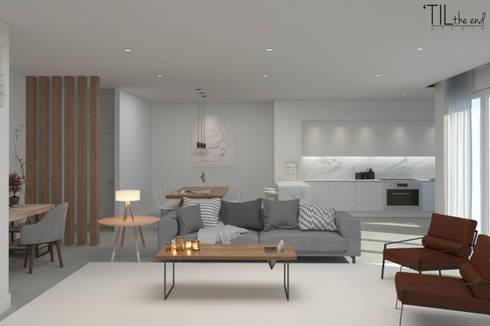 Residential Building in Lisbon: Salas de estar escandinavas por Lagom studio