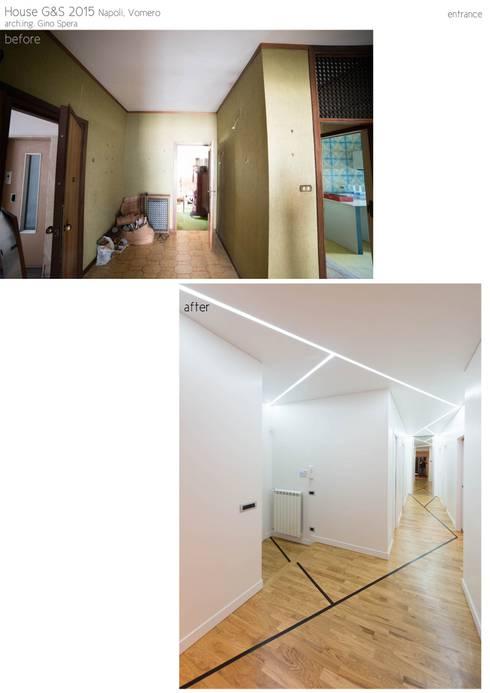 HOUSE G&S: Ingresso & Corridoio in stile  di GINO SPERA ARCHITETTO
