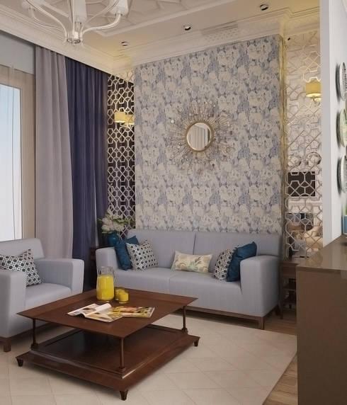 Апартаменты в Сочи: Гостиная в . Автор – Decor&Design