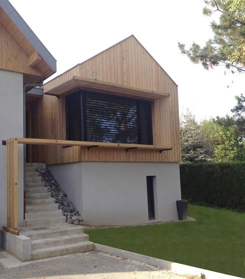 Extension Maison FP: Maisons de style  par FAVRE LIBES Architectes
