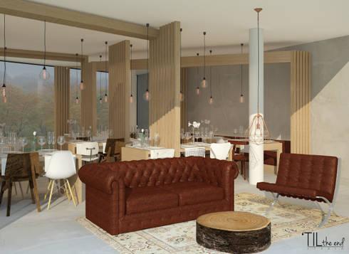 Restaurant lounge area: Hotéis  por Lagom studio